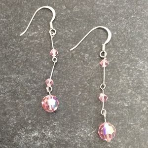 Jewelry - Pink Crystal Earrings